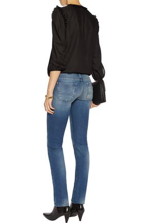 7 FOR ALL MANKIND The Straight Leg mid-rise jeans