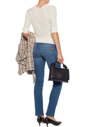 7 FOR ALL MANKIND The Straight low-rise straight-leg jeans
