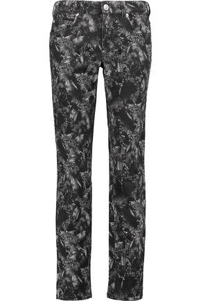 VERSUS Printed mid-rise slim-leg jeans