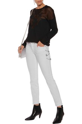 VERSUS Embellished mid-rise straight-leg jeans
