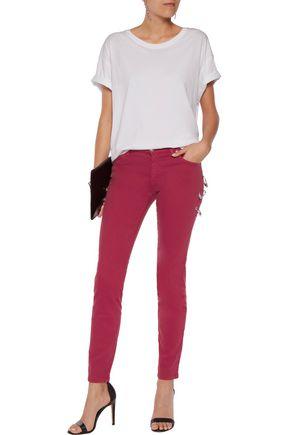 VERSUS Embellished low-rise slim-leg jeans