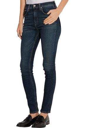 ... RAG & BONE/JEAN Dive mid-rise skinny jeans ...