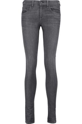 RAG & BONE Mid-rise faded skinny jeans