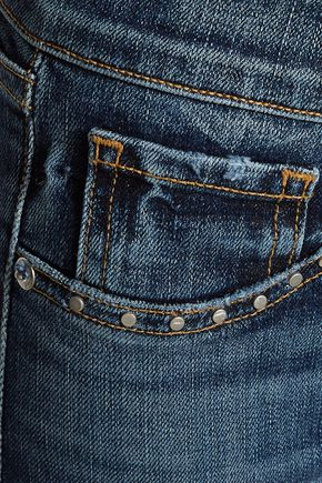 RAG & BONE Stud-embellished high-rise skinny jeans