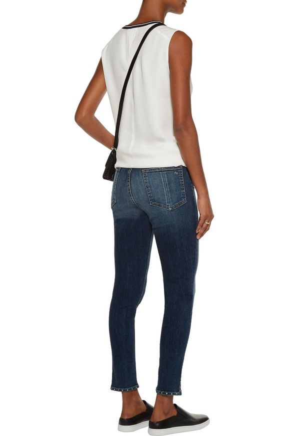Stud-embellished high-rise skinny jeans | RAG & BONE | Sale up to 70% off |  THE OUTNET