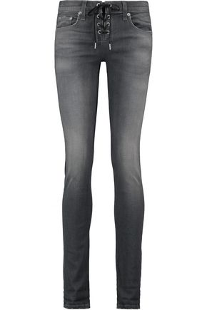 RAG & BONE Dre lace-up boyfriend jeans