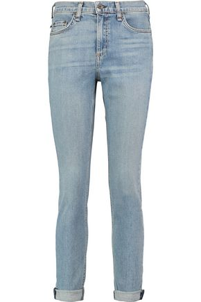 RAG & BONE 10 Inch Dre high-rise faded skinny jeans