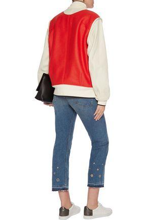 RAG & BONE Embellished high-rise straight-leg jeans