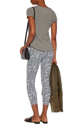 MOTHER Printed high-rise skinny jeans