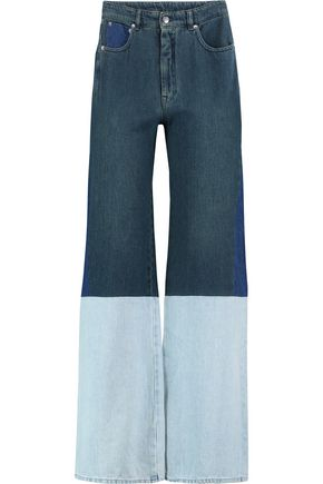 MM6 by MAISON MARGIELA Patchwork high-rise wide-leg jeans