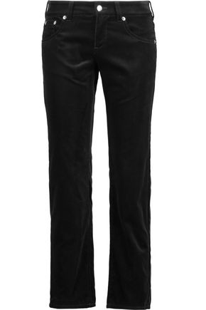 MM6 by MAISON MARGIELA Cropped velvet straight-leg pants