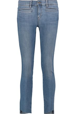 M.I.H JEANS Cropped mid-rise straight-leg jeans