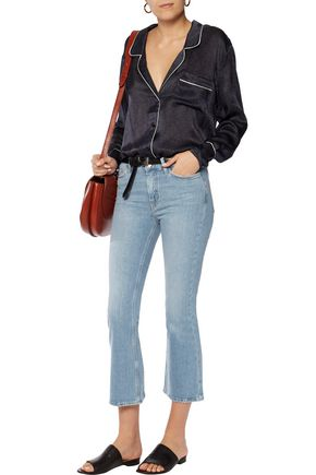 M.I.H JEANS Marty cropped mid-rise flared jeans