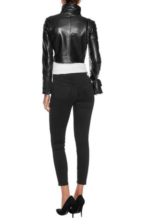 J BRAND Maria cropped mid-rise skinny jeans