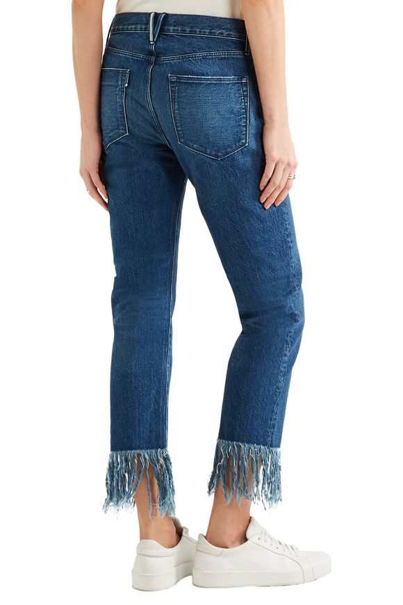 Mid-rise fringed straight-leg jeans | 3x1 | Sale up to 70% off | THE OUTNET