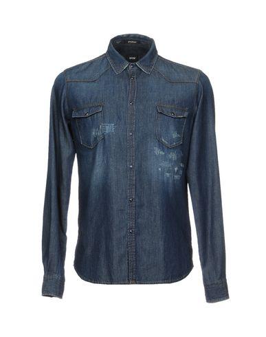 Фото - Джинсовая рубашка от OFFICINA 36 синего цвета