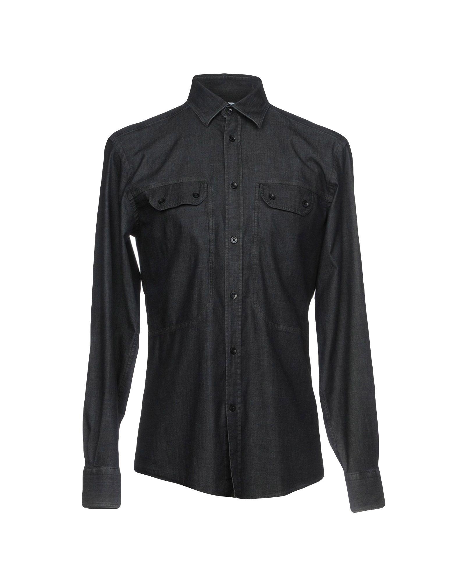 цены на VERSACE COLLECTION Джинсовая рубашка в интернет-магазинах