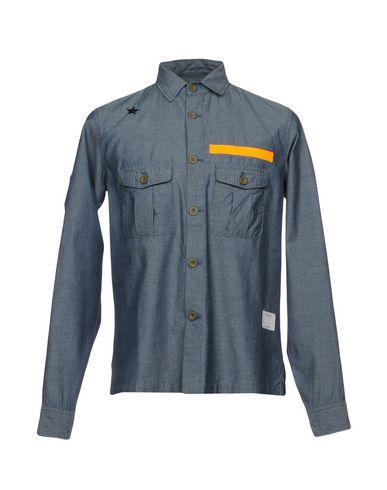 Фото - Джинсовая рубашка от THE EDITOR синего цвета