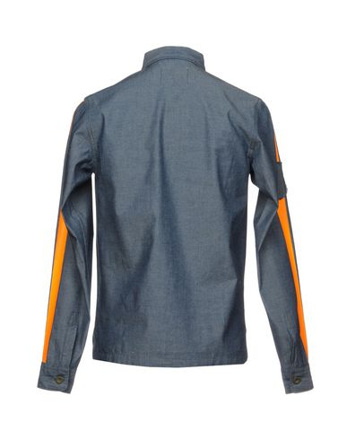 Фото 2 - Джинсовая рубашка от THE EDITOR синего цвета