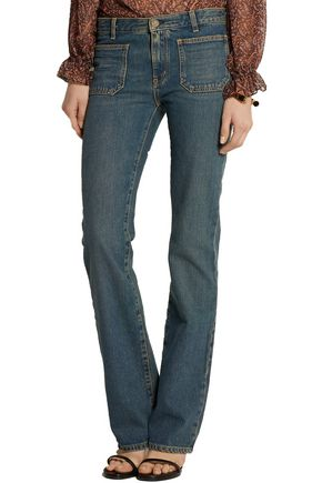 SAINT LAURENT Mid-rise flared jeans