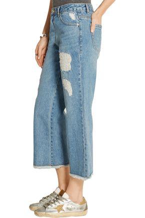 SJYP Distressed wide-leg jeans