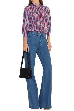 VICTORIA, VICTORIA BECKHAM High-rise stretch wide-leg jeans