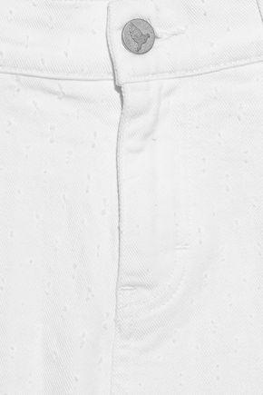 M.I.H JEANS Phoebe textured mid-rise boyfriend jeans