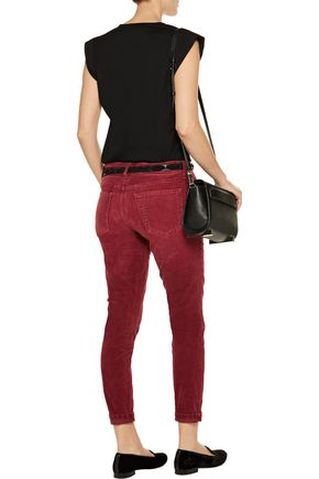 CURRENT/ELLIOTT The Stiletto corduroy mid-rise skinny jeans