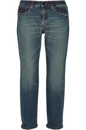 VICTORIA BECKHAM DENIM Slouch cropped mid-rise boyfriend jeans