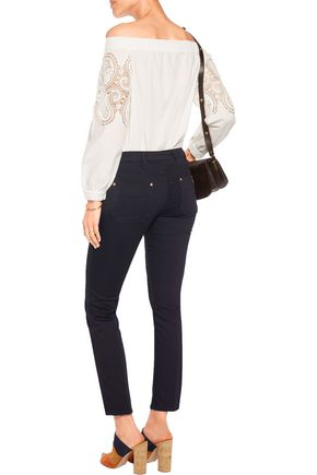 M.I.H JEANS Paris cropped mid-rise straight-leg jeans