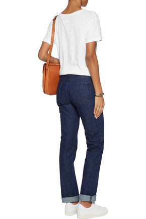 CURRENT/ELLIOTT The Stove Pipe low-rise bootcut jeans