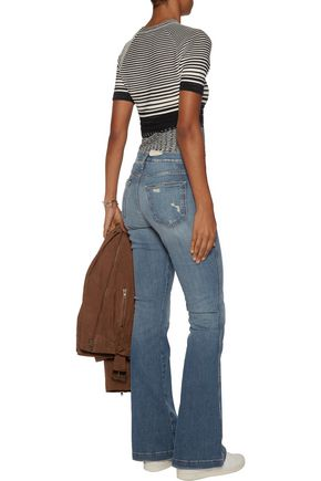 CURRENT/ELLIOTT The Judy faded low-rise flared jeans