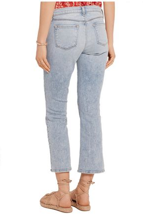 J BRAND Mid-rise cropped bootcut jeans