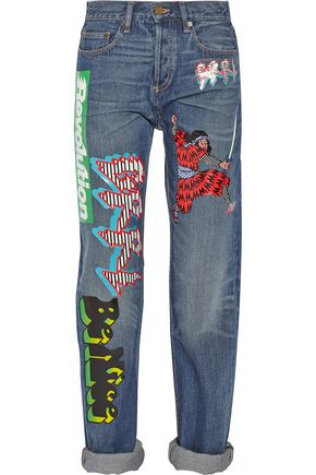 MARC BY MARC JACOBS Annie printed mid-rise boyfriend jeans