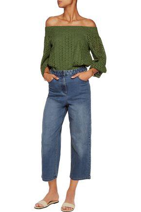 TIBI High-rise boyfriend jeans