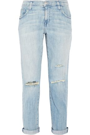 CURRENT/ELLIOTT The Fling distressed low-rise boyfriend jeans