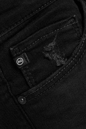 AG Jeans Stilt distressed mid-rise skinny jeans