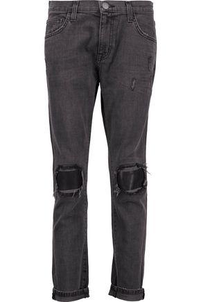 CURRENT/ELLIOTT The Fling distressed boyfriend jeans