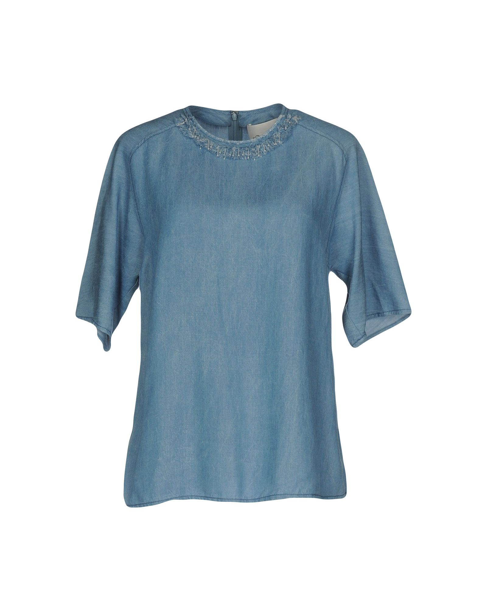 где купить  3.1 PHILLIP LIM Джинсовая рубашка  по лучшей цене