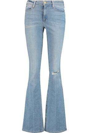BY FRAME Mid-rise distressed flared jeans