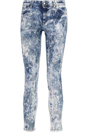 JUST CAVALLI | Just Cavalli Printed Mid-Rise Skinny Jeans | Goxip