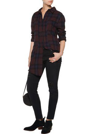 RTA Mid-rise distressed skinny jeans