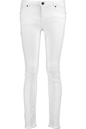 RTA Prince distressed mid-rise skinny jeans