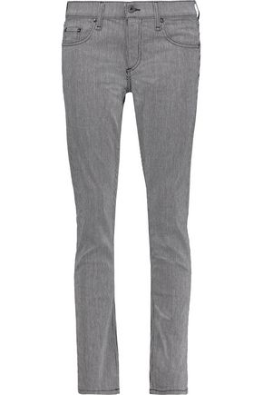 RAG & BONE Tomboy low-rise pinstriped straight-leg jeans