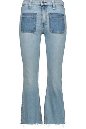 RAG & BONE Santa Cruz mid-rise cropped flared jeans
