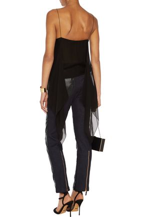 ROBERTO CAVALLI High-rise sequined skinny jeans