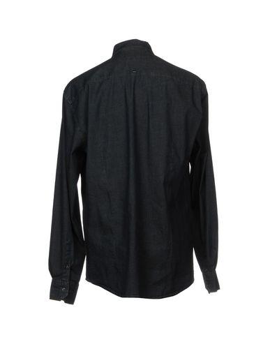Фото 2 - Джинсовая рубашка от HAMAKI-HO синего цвета