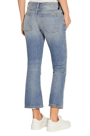 ALEXANDER WANG Cropped mid-rise flared jeans