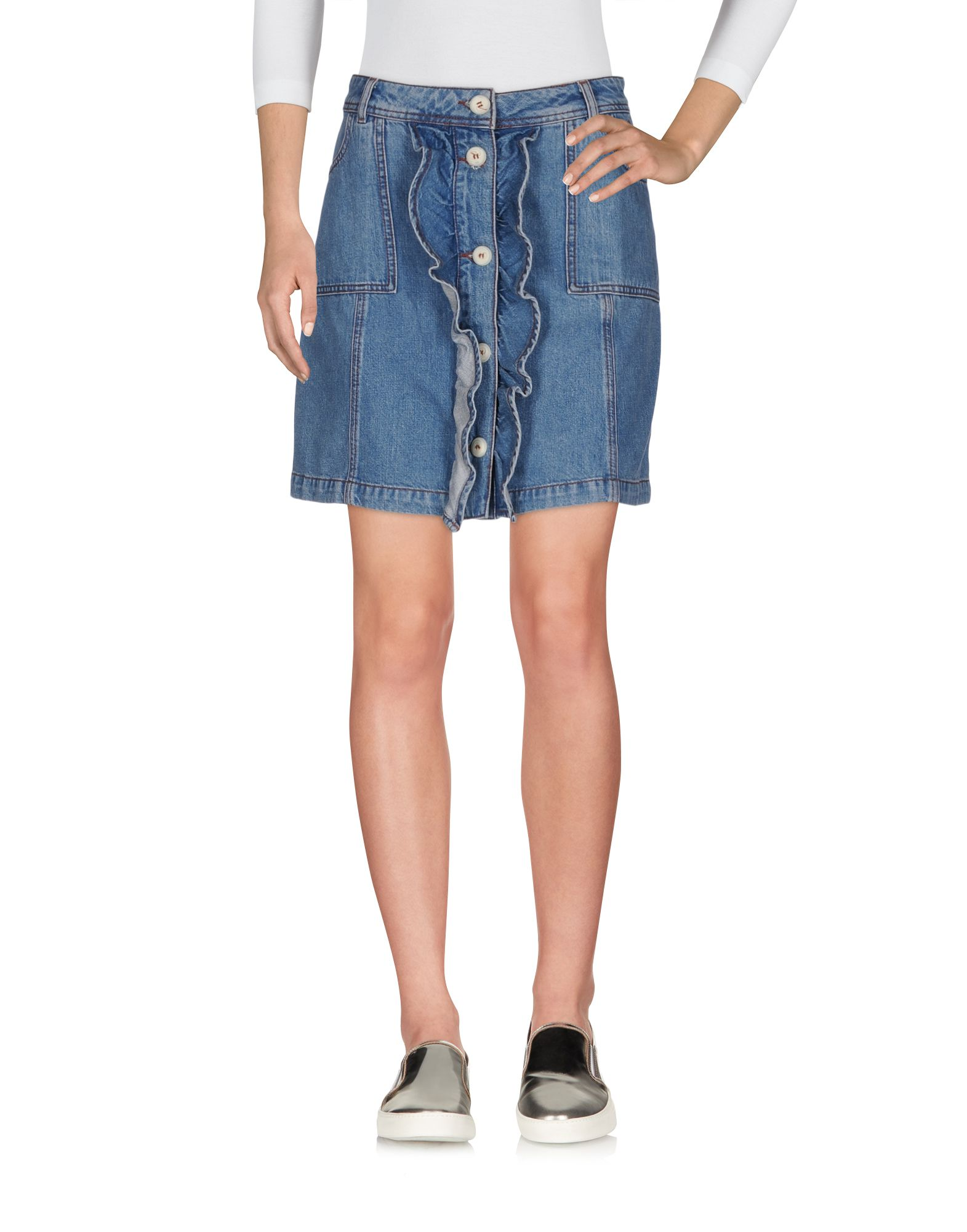 Фото - GANNI Джинсовая юбка pieces джинсовая юбка