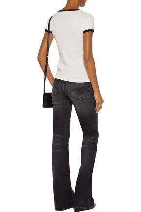 R13 The Jane mid-rise faded flared jeans